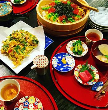 滝沢さんのひな祭りの食卓2017