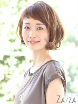 40代ママ ショートボブヘア No.8