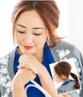 アラフォーまとめ髪 神崎恵さん1