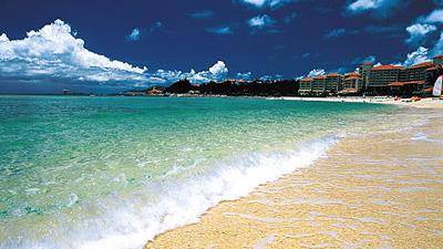 沖縄家族旅行 ブセナテラス 「ビーチ」