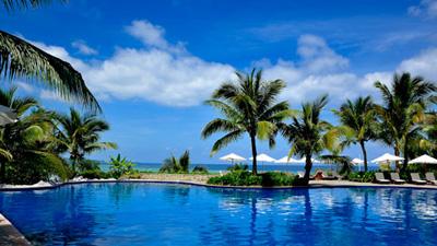 沖縄家族旅行 ブセナテラス 「屋外プール」