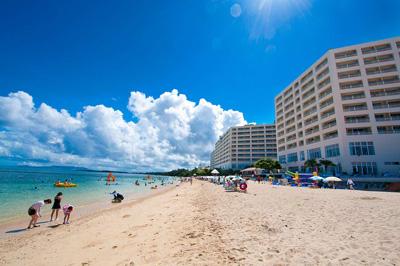 沖縄家族旅行 リザンシー 「ビーチ」