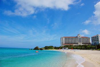 沖縄家族旅行 アリビラ 「ビーチ」