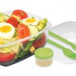 夏のお弁当に!sistema(システマ)の保冷容器付きお弁当箱でサラダ&冷たい麺ランチ