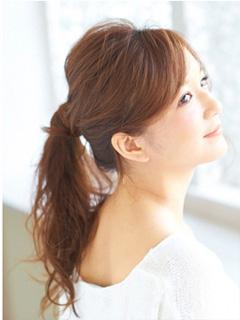 アラフォーまとめ髪ポニーテール編02