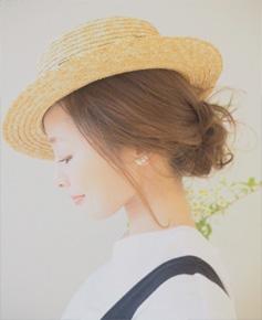 帽子のヘアアレンジ01