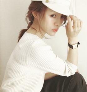 帽子のヘアアレンジ03