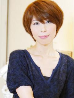 40代上品ショート髪多めヘアカタログ15