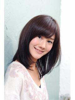アラフォー髪型セミロング12
