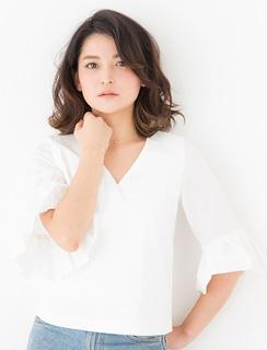 アラフォー髪型ミディアムパーマ13