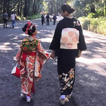 滝沢眞規子さん七五三の着物コーデ01