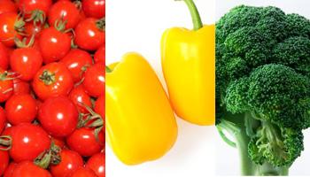 お弁当の彩り野菜
