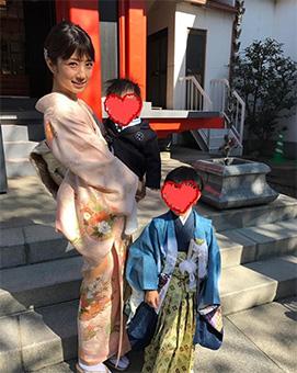 小倉優子さんの七五三ファッション