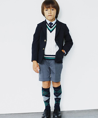「グリーンレーベル」入学式 スーツ02
