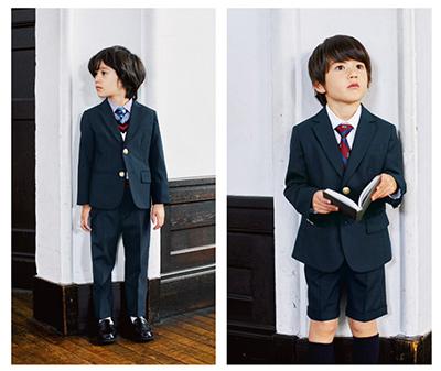 グリーンレーベルの男の子の入学式スーツ01