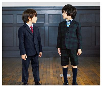 グリーンレーベルの男の子の入学式スーツ02