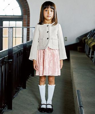 グリーンレーベルの女の子の入学式スーツ01
