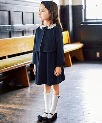 グリーンレーベルの女の子の入学式スーツ02