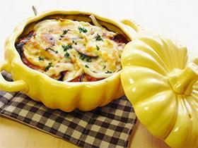 ハロウィンの食器「かぼちゃの土鍋」