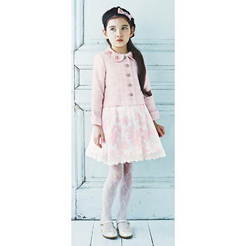 入学式の女の子のスーツ「メゾピアノ」02