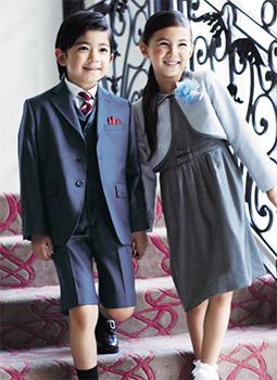 入学式の女の子のスーツ「ミキハウス」01