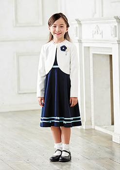 入学式の女の子のセットアップ「ミキハウス」03