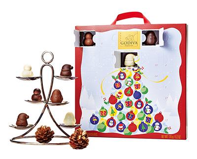 2018クリスマスアドベントカレンダー「ゴディバ」