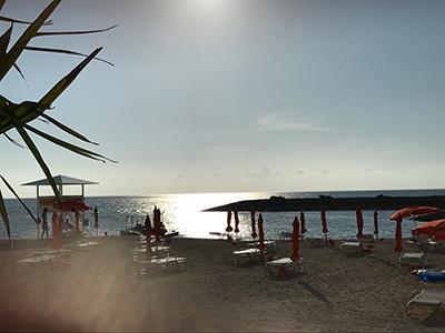 シェラトン沖縄夕方の海