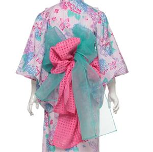 女の子の浴衣おすすめ「メゾピアノ」帯の結び方