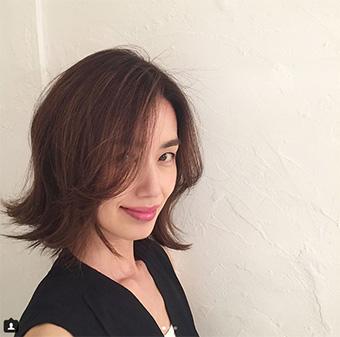 40代モデルのヘアスタイル「武藤京子」さん