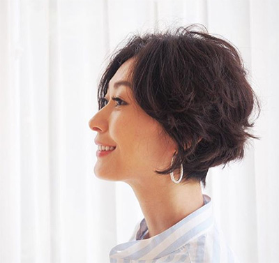40代モデルのヘアスタイル「田丸麻紀さん」