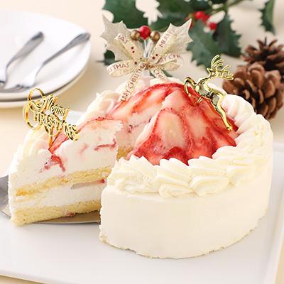 クリスマスショートケーキ「レサンスプレミアム苺ケーキ」