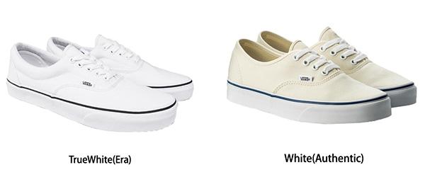 白スニーカーおすすめ「vans」