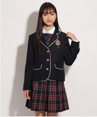 「ピンクラテ」卒服コーデ パイピングジャケット01