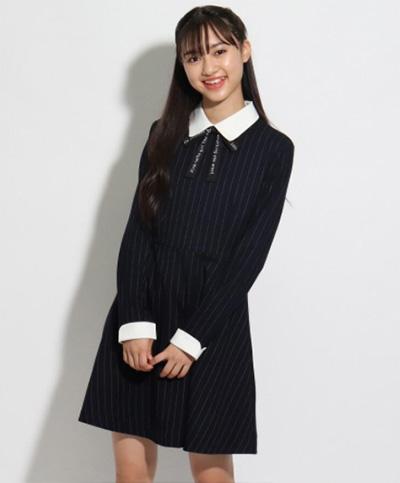 「ピンクラテ」卒服コーデ ワンピース