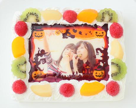 ハロウィンの限定ケーキ「写真ケーキ」01