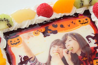 ハロウィンの限定ケーキ「写真ケーキ」02