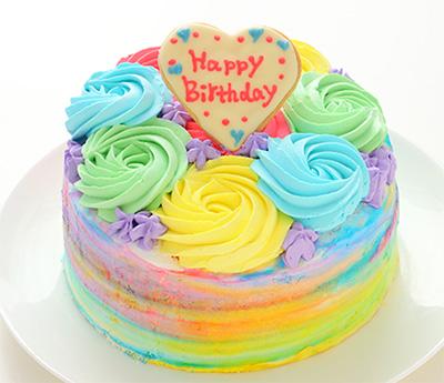 レインボーケーキの通販おすすめ「ギミックケーキ」02