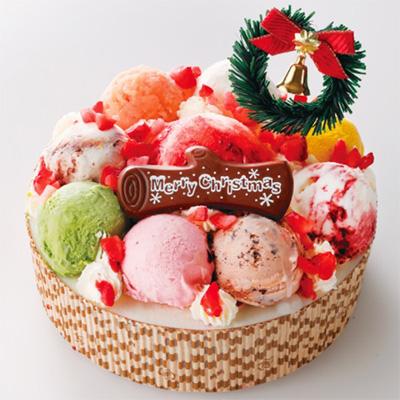 クリスマスのアイスケーキ「岩瀬牧場」