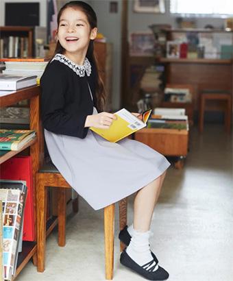 女の子の入学式スーツ・ワンピースおすすめ「グローバルワーク」01