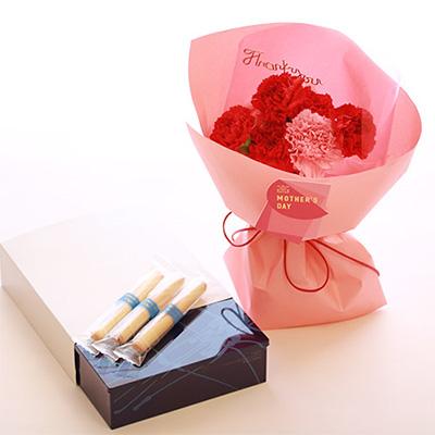 母の日のお花とスイーツのセット「青山フラワーマーケット」01