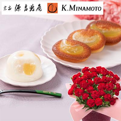 母の日のお花とスイーツのセット「イイハナ」01