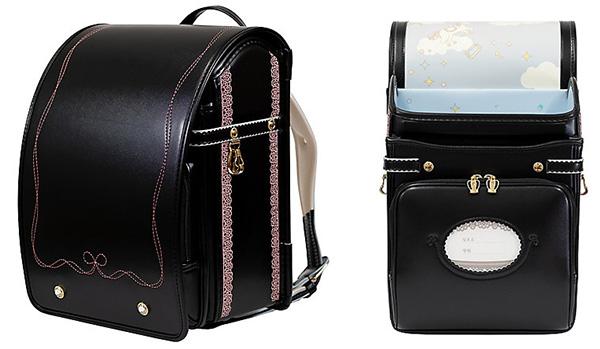 三栄鞄「モンシュシュリコ」女の子の黒いランドセル