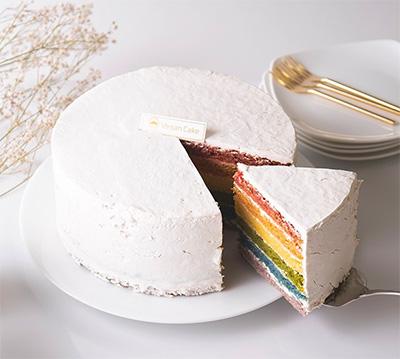レインボーケーキの通販おすすめ「ヴィ―ガンケーキ」02